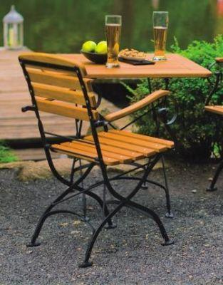 biergartenstuhl bavaria mit armlehne vectro kg. Black Bedroom Furniture Sets. Home Design Ideas